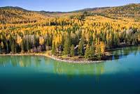 Ashley Lake Fall Aerial