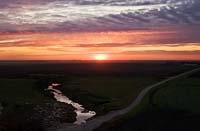 Heartland Sunset Grandin, ND Fall Aerial