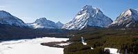 Lower Two Medicine Lake East Glacier Winter Panoramic