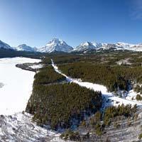 Lower Two Medicine Panoramic East Glacier Winter Panoramic360