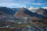 Nyack Peak Glacier Park Winter Aerial