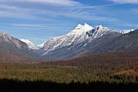 Stimson and Pinchot peaks in Glacier Park Glacier Park Winter Aerial