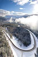 Whitefish, MT Winter Aerial
