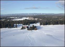 Bear Grass Ranch Hodgson Road Winter Aerial