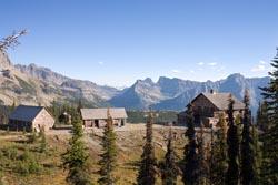 Granite Chalet Glacier Park Fall Landscape