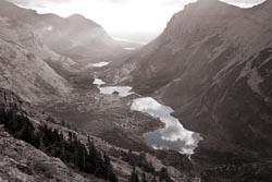 Glacier Park Fall Lakes