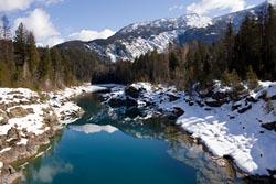 Wow Middle Fork Winter Landscape