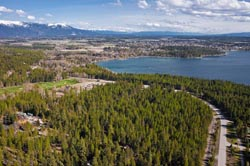 Brenchley Big Mountain Property For Sale Whitefish Lake, MT Spring Aerial
