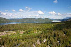 Iron Horse Golf Course View Whitefish Lake, MT Spring Aerial