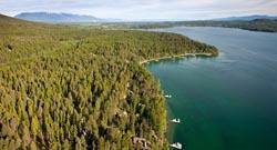 Whitefish Lake Aerial Whitefish Lake, MT Spring Aerial