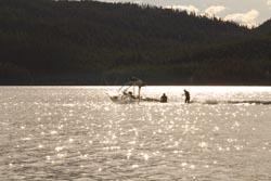 Surfing on Whitefish Lake Whitefish Lake, MT Spring Skurfing