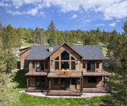 209 Walking Coyote Drive - Buffalo Mountain Kalispell, MT Spring Aerial