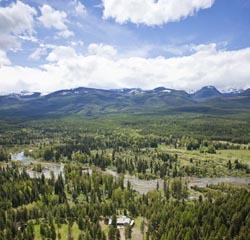 42227 Hwy 83, Bigfork, Montana BigFork, MT Spring Aerial