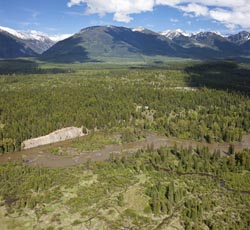 42227 Hwy 83, Bigfork, Montana Swan River Spring Aerial