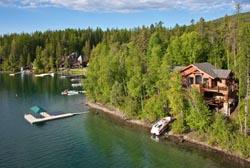 1640 W Lakeshore Dr, Whitefish Lake, Motana Whitefish Lake, MT Spring Aerial