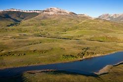 Aerial Dupuyer, Montana Dupuyer, MT Spring Aerial