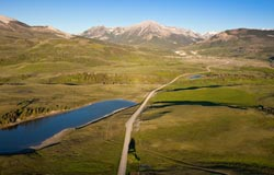Dupuyer County Road Dupuyer, MT Spring Aerial
