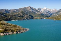 Swift Resevoir - Dupuyer, Montana Dupuyer, MT Spring Aerial