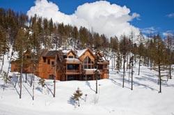 206 Elk Highlands Home For Sale Whitefish, MT Spring Aerial