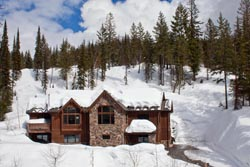 123 Glades, Big Mountain, Montana Whitefish, MT Spring Aerial