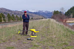 Jeff filming for Trout Unlimited Missoula Spring Aerial