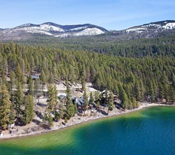 3614 W Lake Shore, Whitefish Lake, Home For Sale Whitefish Lake, MT Spring Aerial