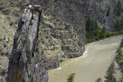 Amazing view of the river Middle Fork Salmon River Spring Rafting