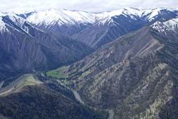 Indian Springs Landing Strip Middle Fork Salmon River Spring Aerial