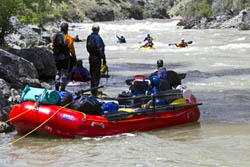 Crew on the river Middle Fork Salmon River Spring Rivers