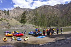 Lunching Middle Fork Salmon River Spring Rivers