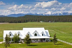 Song Bird Lane House For Sale Kalispell, MT Spring Aerial