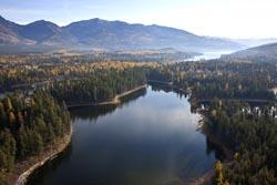 Bug Creek Road Property For Sale, Horseshoe Lake Horseshoe Lake Fall Aerial