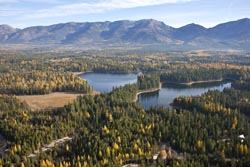 Horseshoe Lake, Bigfork, Montana Horseshoe Lake Fall Aerial