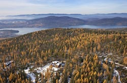 2944 Snowghost Rd, Whitefish, Home For Sale Whitefish Lake, MT Fall Aerial
