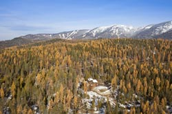 2944 Snow Ghost Rd, Whitefish, MT Home For Sale Whitefish, MT Fall Aerial