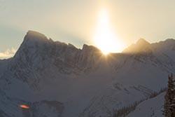 Sunrise Golden, Canada Winter Sunrise
