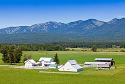 Farm House Whitefish, MT Summer Aerial