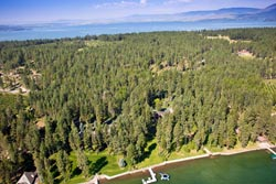 Finley Point Property For Sale Flathead Lake Summer Aerial