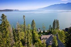 Finley Point, Polson, Montana Flathead Lake Summer Aerial