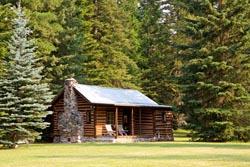 Original Cabin, Bigfork, Montana BigFork, MT Summer Aerial