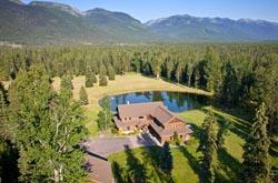Grizzly Ally BigFork, MT Summer Aerial