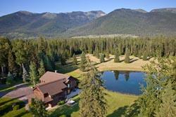 190 Black Bear Lane, Ranch For Sale BigFork, MT Summer Aerial