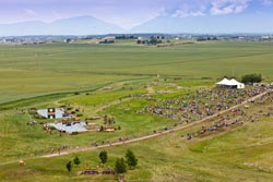 The Event at Rebecca Farm 2012 Kalispell, MT Summer Aerial