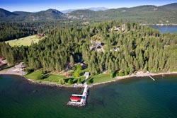14761 Romain Dr, Woods Bay Home For Sale BigFork, MT Summer Aerial