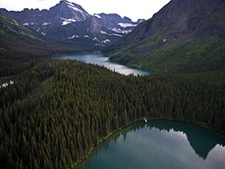 Gould Peak Glacier Park Summer Aerial