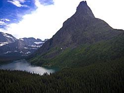 Grinell Point Glacier Park Summer Aerial