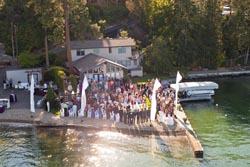 Lakeside wedding Lakeside, MT Summer Aerial