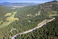 Crazy Landing Strip  Kila, MT Summer Aerial