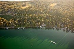 Finley Point, Flathead Lake, Montana  Flathead Lake Summer Aerial