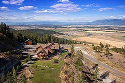 457 Coyote Ridge, 400 acres for sale Somers, MT Summer Aerial